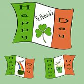 stock photo of st patty  - The Irish spirited flags for St - JPG