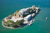 stock photo of jail  - Alcatraz jail in San Francisco bay in CA - JPG