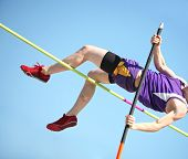 stock photo of pole-vault  - Pole vault - JPG