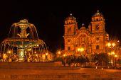 Cuzco Square In Night