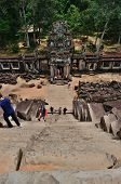 Tourists In Ta Keo Temple