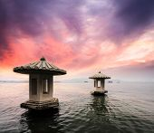Landscape With Sunset In Hangzhou