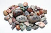 Faith Hope And Love Rocks