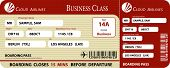 stock photo of boarding pass  - Red Boarding Pass Business Class Vector EPS - JPG