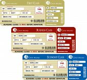 Boarding Pass Set (First, Business and Economy Class)