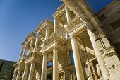 The Columns of the Celsus Library of Ancient Ephsus in Turkey