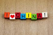 I Love China, Sign for Countries and Travel