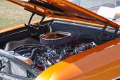 1966 Orange Chevy El Camino Engine