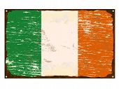 Irish Flag Enamel Sign