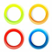 Set Of Four Colorful Circle