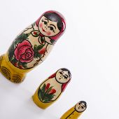 Russian Dolls Matryoshka Isolated On A White Background