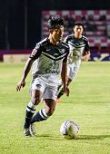 Sisaket Thailand-may 28: Nurul Sriyankem Of Chonburi Fc. Runs For The Ball During Thai Premier Leagu