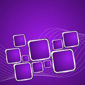 Square Violet Background. Vector Illustration 1