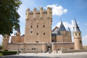 Front Of Segovia Castle