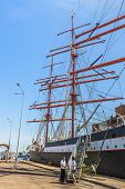 Tall Ship In Port