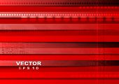 Bright red tech background. Vector illustration eps10