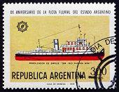 Postage Stamp Argentina 1978 River Parana Tug No.34