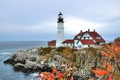 pic of historical ship  - Portland Head Light is a historic lighthouse in Cape Elizabeth Maine - JPG