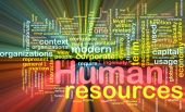 stock photo of human resource management  - Background concept illustration of human resources management glowing light effect - JPG