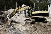 stock photo of jcb  - giant bulldozer - JPG