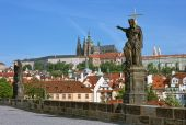 Prague, Charles Bridge And Lesser Town (mala Strana) Cityscape