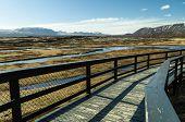 Thingvellir national park walkway