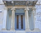 picture of neo-classic  - elegant neo classical house entrance - JPG