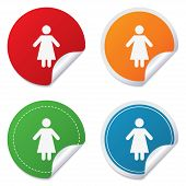 picture of female toilet  - Female sign icon - JPG