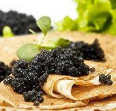 Pancake With Black Caviar