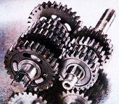 Vintage looking metal gears