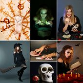 Dark magic and witch collage