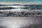 Ocean Waves. Cadiz, Spain