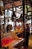 MADRID, SPAIN - MAY 28, 2014:  Mercado San Miguel market, famous food market in the centre of Madrid