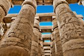 picture of hieroglyphic  - Close up of columns covered in hieroglyphics - JPG