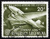 Postage Stamp Argentina 1951 Douglas Dc-3 And Condor