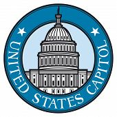 United States Capitol badge