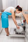 Woman Doing Housework