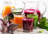 pic of fruit-juice  - Healthy vegetable smoothie and juice - JPG