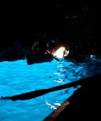 picture of grotto  - The Blue Grotto in italian  - JPG