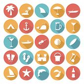 Colorful Flat Icon Designs - Summer
