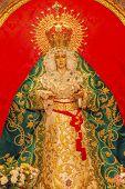 Basilica Mary With Tears Le Macarena Statue Santa Iglesia Collegiata De San Isidro Madrid Spain