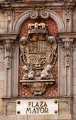 Plaza Mayor Royal Symbol Sign Madrid Spain