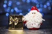 Santa Claus Or Father Frost With Gift Box Or Present