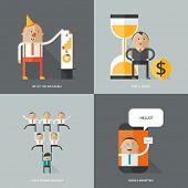 Icons for web design. Flat design