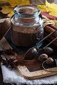 Cocoa powder in a jar