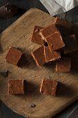 pic of chocolate fudge  - Homemade Dark Chocolate Fudge Ready to Eat - JPG