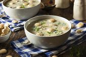 Homemade Oyster Stew With Parsley