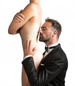 pic of possess  - Elegant man smelling a beautiful sexy girl - JPG