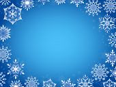 Greeting Card With Azure Snowflakes