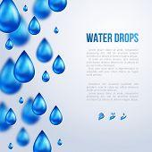 Water Drops. Vector illustration. Rainy day.